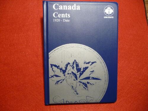 1920-2012 UNI-SAFE  CANADIAN  SMALL  CENTS  FOLDER  ALBUM #3