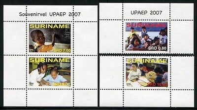 Süd- & Mittelamerika PüNktlich Surinam 2007 Upaep Bildung Kinder Schule Bildung 2158-2159 Block 103 Mnh Gut FüR Energie Und Die Milz Briefmarken