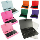 Micro USB Stand Magnetic Closure Keyboard Case for 7