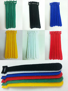 Hook-and-Loop-fastener-green-yellow-white-blue-red-black-Reusable-belt-cable-tie
