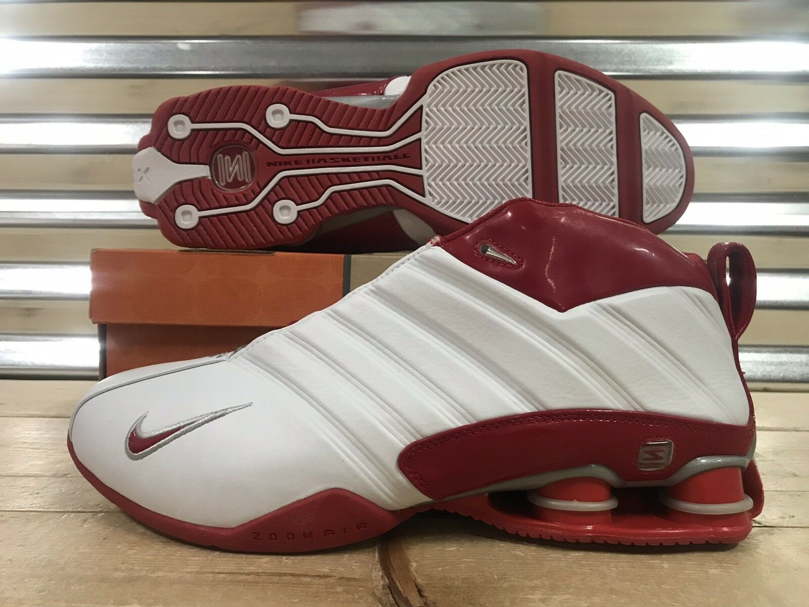 Nike Shox Supremacy PR 2003 shoes Vince White Varsity Red SZ 12 ( 305963-161 )