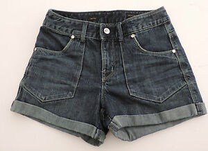 Women-039-s-Express-X2-High-Rise-Waisted-Jean-Shorts-Size-0