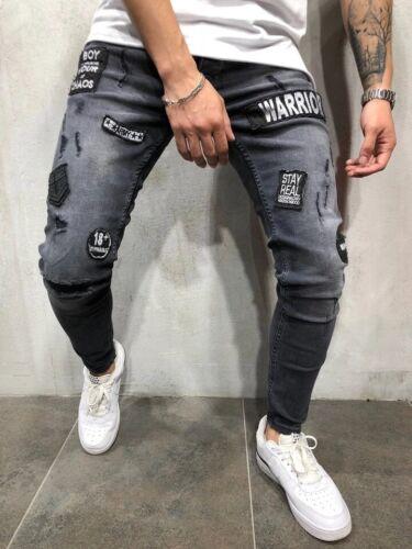 Jeans de Moda 2019 Para Hombre Pantalones De Mezclilla Calças Masculinas Jeans