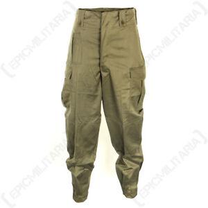 Belgian-Olive-Green-BDU-Trousers-Army-Surplus-Combat-Belgium-Military-Pants