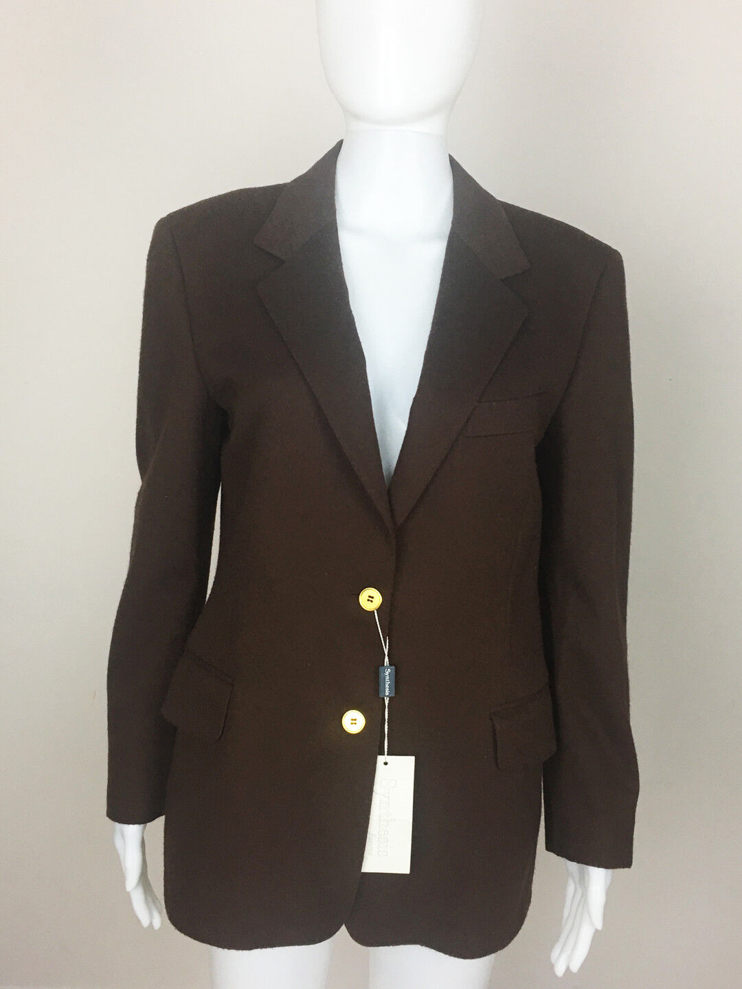 SYNTHESIS Women's Designer Wool Cashmere Blazer. MADE IN ITALY. Size US 8 (NWT)