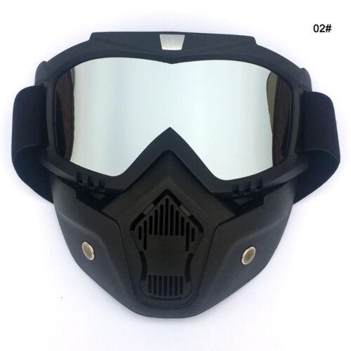 Motorcycle Motocross Face Mask Goggles Off Road MX ATV Dirt Bike Glasses Eyewear