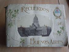 ARGENTINA RECUERDOS RARISSIMO ALBUM con 23 FOTO DI BUENOS AIRES PRIMI ANNI 1900