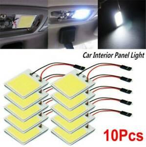 10PCS-48-SMD-COB-LED-T10-4W-12V-Light-Car-Interior-Panel-Lights-Dome-Lamp-Bulb