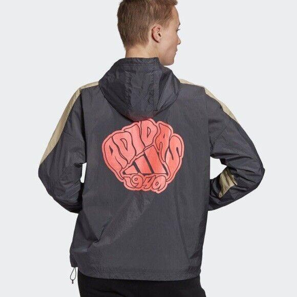 Adidas Id Half Zip Jacket (women Size S) Athletic Windbreaker Coat Gray
