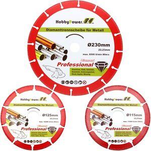 Profi-Diamant-Trennscheibe-fuer-Stahl-Guss-Metall-Kunststoff-Alu-115-125-230-mm