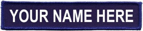 "Name Patch Hook And Loop 5/""X 1"" Embroidered Airsoft Security Morale Molle"