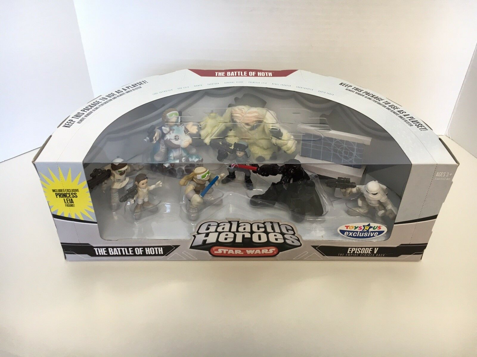 Star Wars Galactic Heroes THE BATTLE OF HOTH Toys R Us Exclusive Episode V NEW