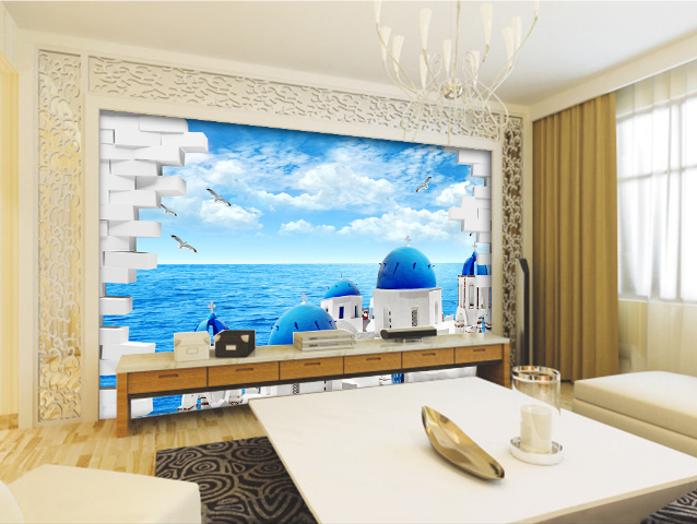 3D Bule Halmet 471 Wallpaper Murals Wall Print Wallpaper Mural AJ WALL AU Lemon