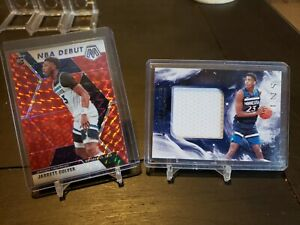 2019 Mosaic Jarrett Culver RC NBA Debut Red Prizm + Origins Patch 2 Card Lot