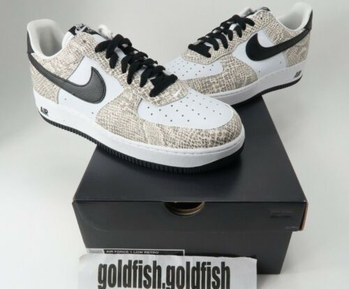 Retro 845053 104 Cocoa Ds Snake Air negro 1 Nike blanco Force Low 7zXSwx