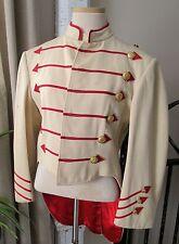Vintage Buttercream Wool & Red Arrow Trimmed Swallowtail Band Uniform Jacket