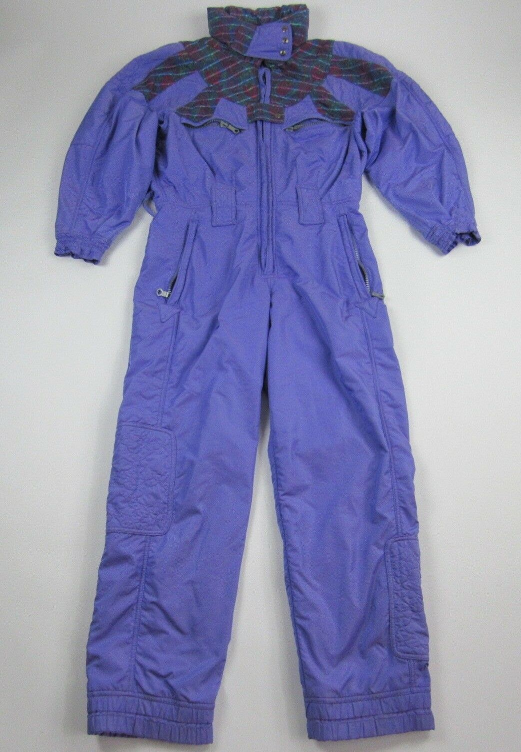 Vtg  80s 90s Purple Chervo One piece Ski Suit Snow Bib Snowsuit Euro 46   selling well all over the world
