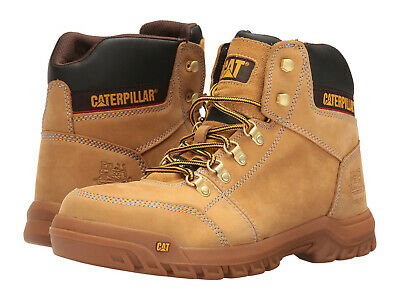 89ec96823ae Men Caterpillar Outline Steel Toe Work Boot P90801 Honey 100 ...