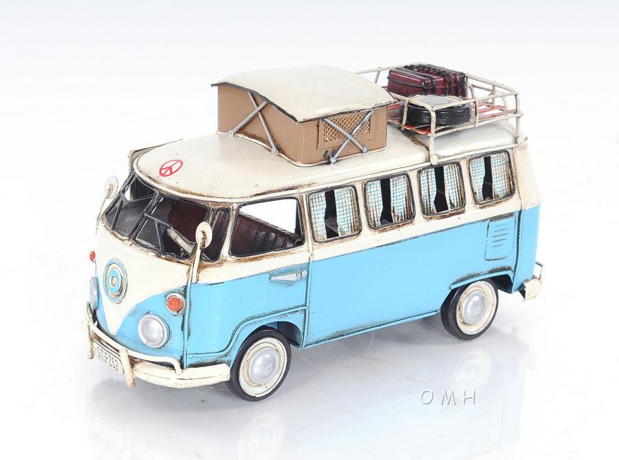 Volkswagen Type 2 >> 1950 Volkswagen Type 2 Kombi Camper Vw Bus Metal Car Model 12 Automotive Decor