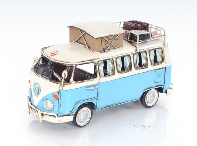 1950 Volkswagen Type 2 Kombi Camper Vw Bus Metal Car Model 12 Automotive Decor