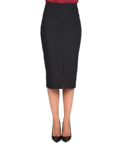 12uk Skirt Pencil Sz Black Waisted High npHXAHga