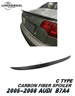 Carbon Fiber Rear Spoiler For 2005-2008 Audi A4 S Line B7 And S4 B7 Sedan Type C