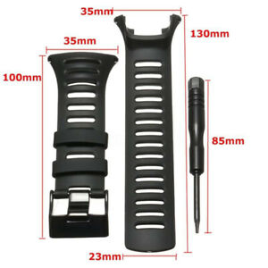 For-SUUNTO-Ambit2-S-Ambit2-Red-and-Ambit3-Watch-Strap-Black-Rubber-Part-Tool