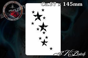 Minis-Sternchen-Sterne-Airbrush-Schablone-Stars-Stencil
