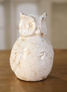 Owl-Ceramic-Antiqued-Style-Home-Decor-Gift-Homewares-23cms-BRAND-NEW