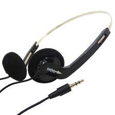 HEADPHONES ULTRA LIGHT STEREO 3.5MM JACK PLUG SPONGE PADS ADJUSTABLE HEADBAND
