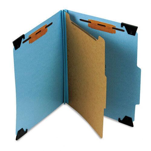 Smead Four Section Hanging Classification Folder, Pressboard/Kraft, Letter, Blue