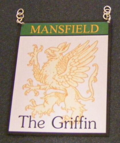 SCALA 1:12 il segno di Griffin Pub Casa delle Bambole Miniatura Accessorio Bar INN DRINK