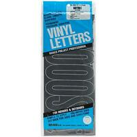 Duro Decal Permanent Adhesive Vinyl Letters: 6 Gothic Black, New, Free Shipping