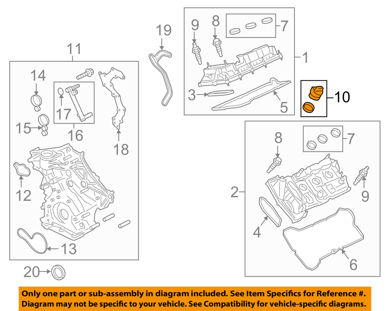 FORD OEM Valve Timing Covers-Filler Cap F2GZ6766A
