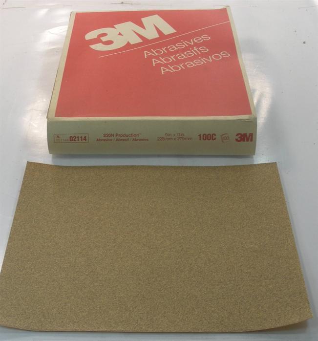3M 02114 Produktion Schleifpapier Blatt 100c Körnung 9   X 11   50ct 19894