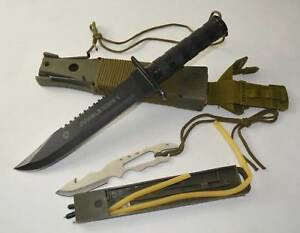 Brand-New-Sharp-Carbon-Steel-Jungle-King-1-Fighting-Knife-Dagger-with-Cover