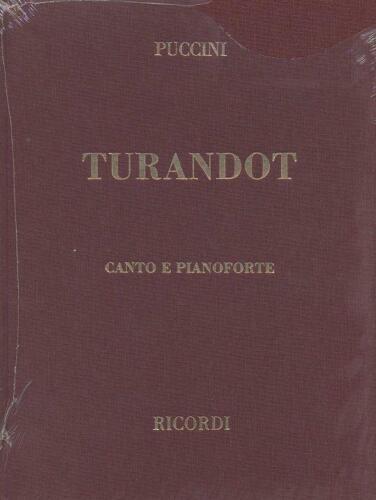 Turandot Testo Cantato In Italiano-Tedesco Vocal and Piano Giacomo Puccini Vocal