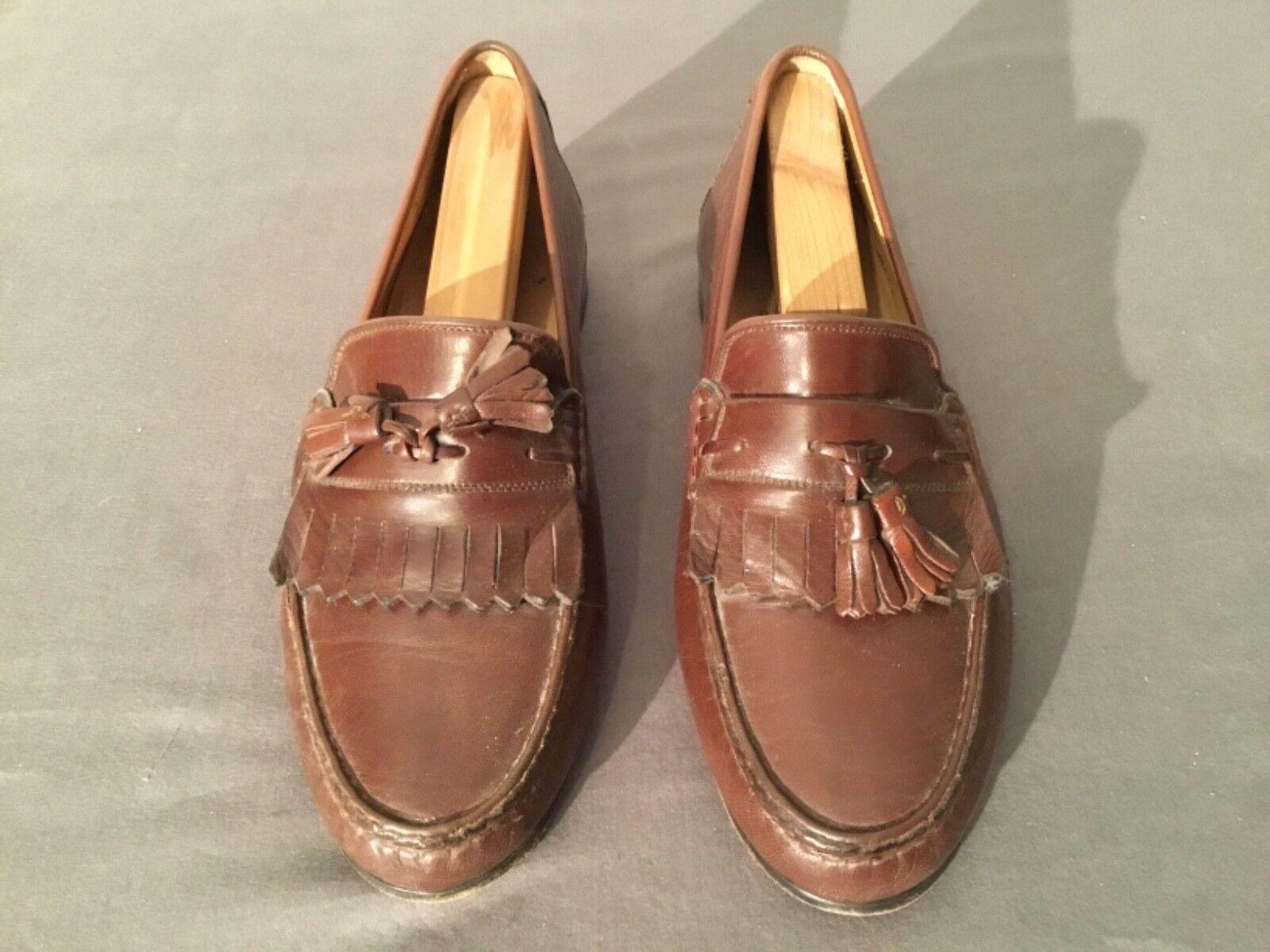 Mens Größe 9 1 1 1 2 Bruno Magli braun Leather Dress schuhe Medium Wide Made In  a2baed