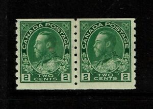 Canada-SC-128-Pair-Mint-Light-Hinged-Tiny-Dry-Gum-Spot-on-Left-Stamp-S3506