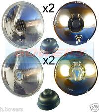 "5.75"" 5 3/4"" CLASSIC CAR INNER & OUTER HEADLAMPS HEADLIGHTS HALOGEN H1 & H4 SET"