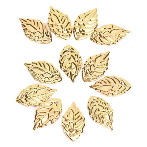 Fashion 50 Pcs Leaves Filigree Metal Crafts Jewelry DIY Accessories Pendant