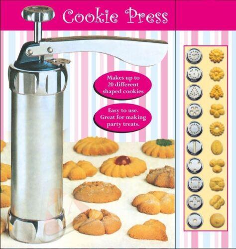 New 25Pc Cookie Press Pump Machine Biscuit Maker Cake Cutter Decorating Set BN