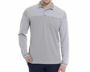 c2100f9f47d Hugo Boss gray long sleeve polo men's Plisy 1 new with tag | eBay