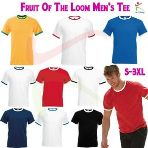 f890769fb28bc Chargement de l'image en cours Fruit-of-the-Loom-Homme-Valueweight-Ringer-T-