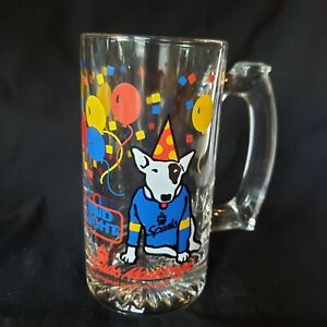 Vintage-1987-Spuds-MacKenzie-Bud-Light-Busch-Beer-Stein-Glass-80s-Party-Animal