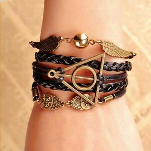 Harry-Potter-Golden-Snitch-Deathly-Hallows-Costume-Metal-Braided-Bracelet