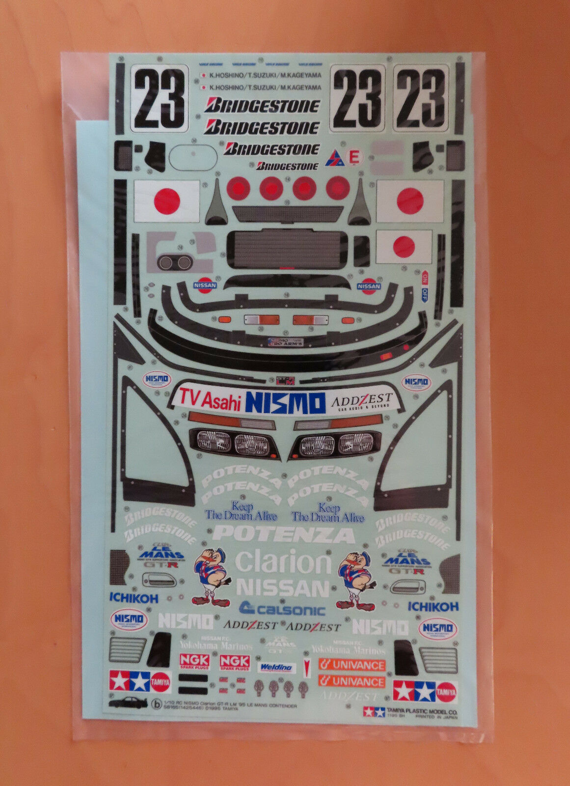 RC Tamiya decal 58165 nismo Clarion r34 GT-R 1995 nuevo NIB