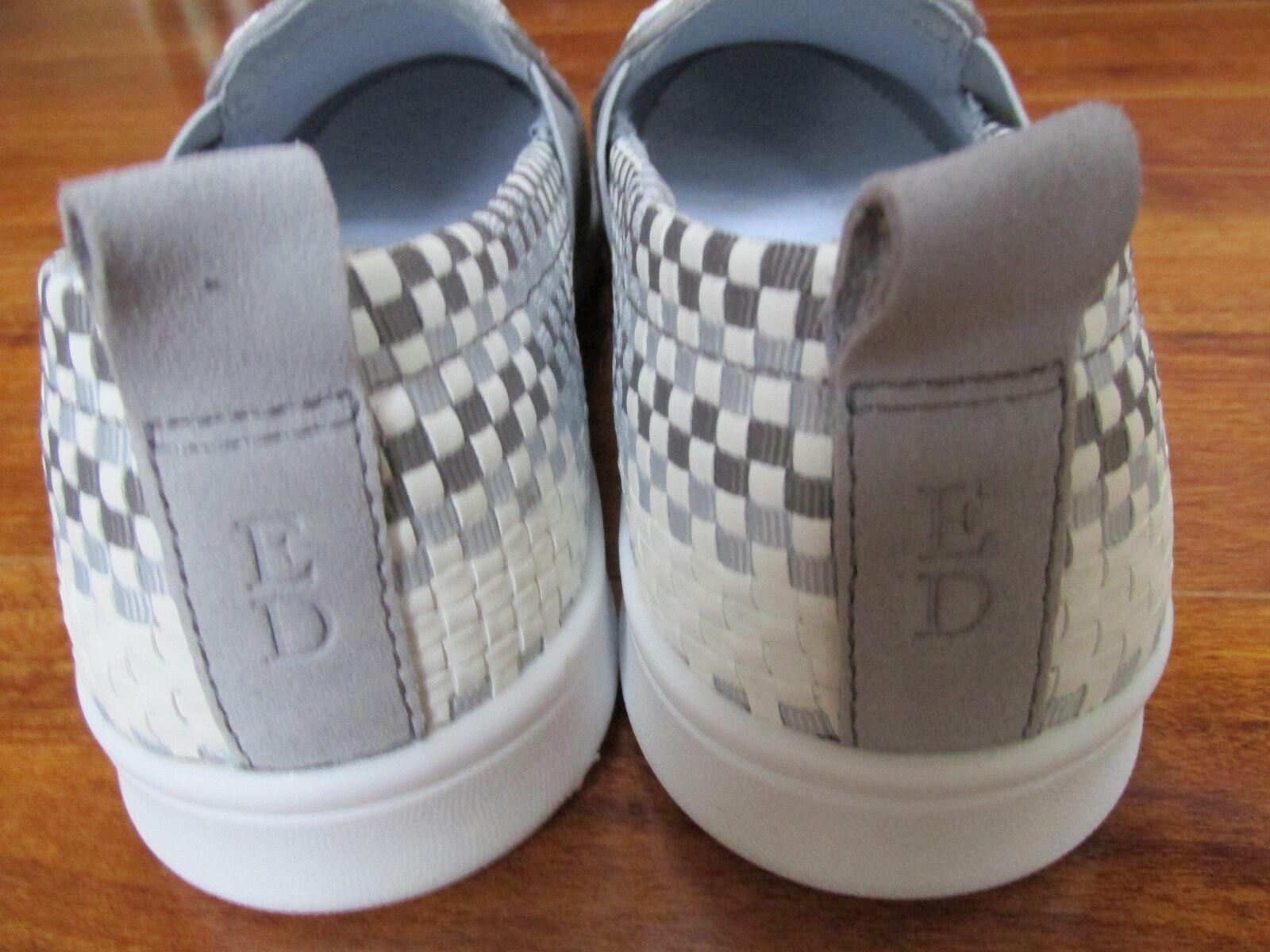 Nueva DeGeneres edición Ellen DeGeneres Nueva Carlene 2 Cuero Sin Cordones Zapatillas Deportivas Para Mujer 8.5 blancoo gris 8aa186