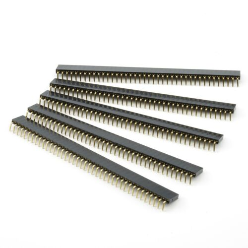 5x Buchsenleiste 40 Pin gewinkelt 2,54mm stapelbar weiblich Pin Header female