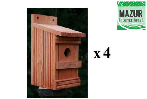 Wooden Garden Nesting Box Bird House hotel small birds